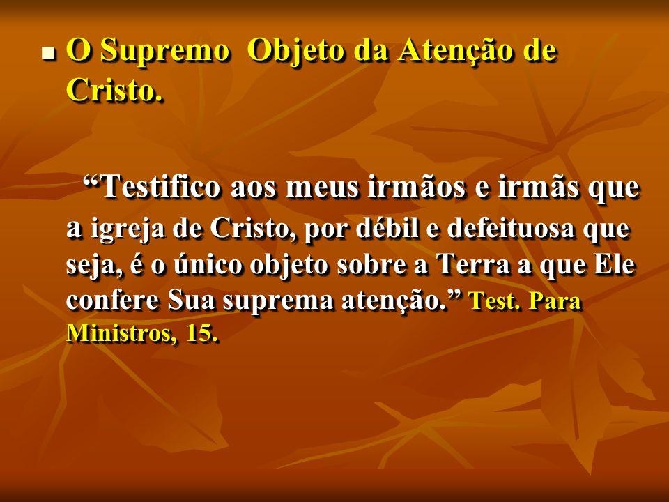 O Supremo Objeto da Atenção de Cristo. O Supremo Objeto da Atenção de Cristo.
