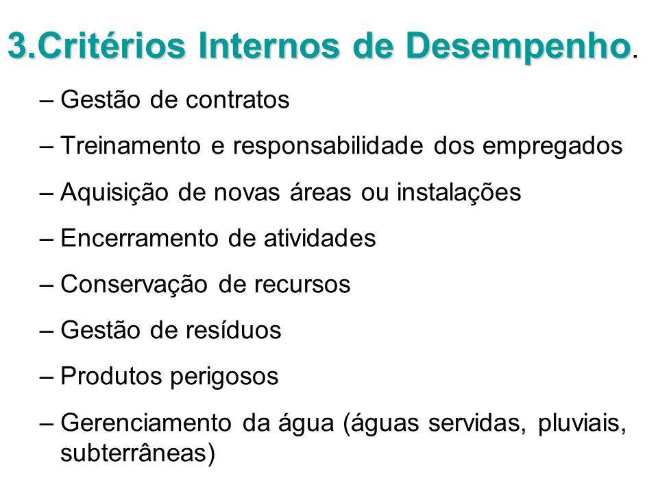 3.Critérios Internos de Desempenho 3.Critérios Internos de Desempenho.