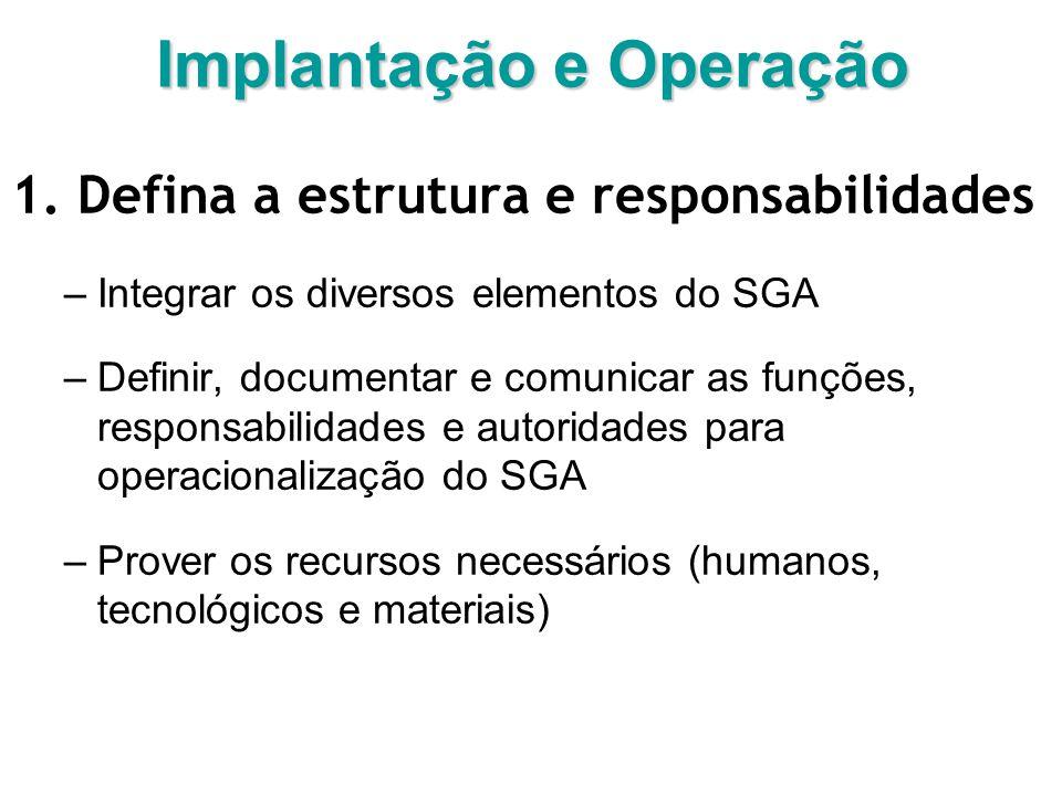 Implantação e Operação 1.