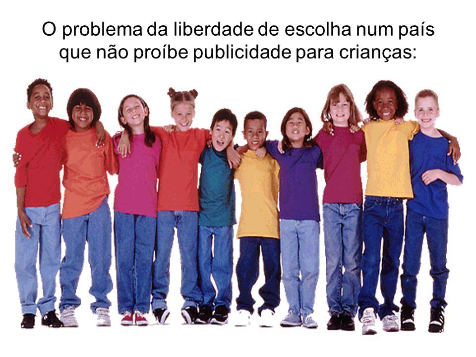 O problema da liberdade de escolha num país que não proíbe publicidade para crianças: