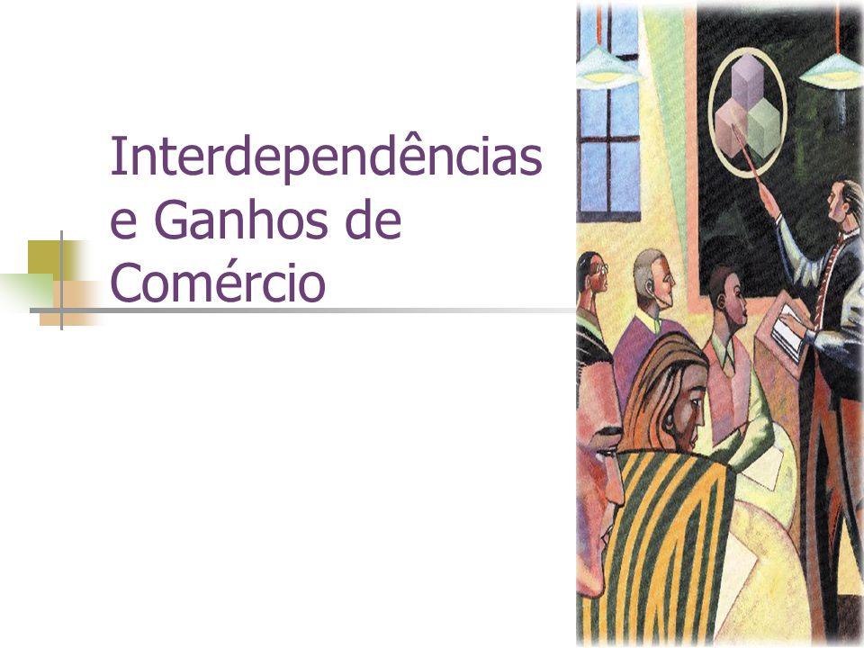 Resumo Interdependência e comércio permitem aos indivíduos usufruir de uma maior quantidade e variedade de bens