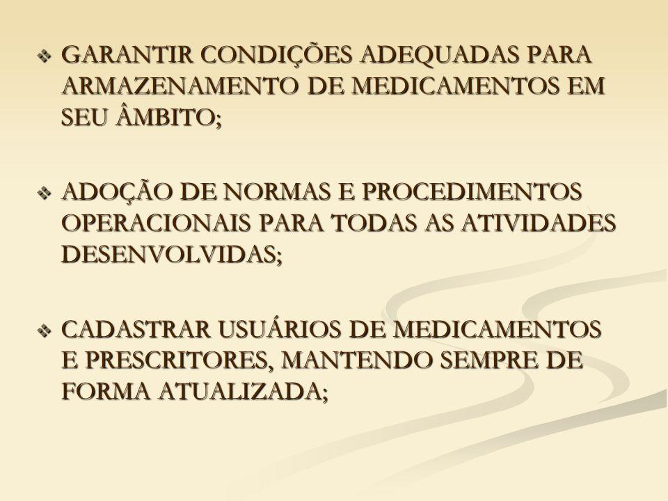 DISPOSIÇÃO DOS MEDICAMENTOS NAS PRATELEIRAS  DEVEM ESTAR DISPOSTOS EM ORDEM ALFABÉTICA (POR NOME COMERCIAL);  DEVEM ESTAR ARRUMADOS DE ACORDO COM AS APRESENTAÇÕES (COMPRIMIDOS, GOTAS, POMADAS, XAROPES, ETC.);