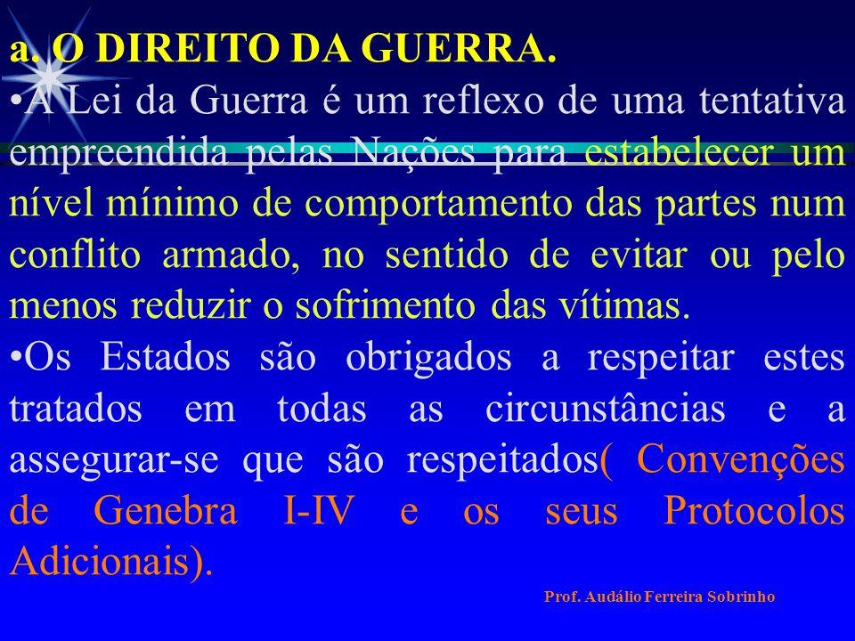 SUMÁRIO: I - INTRODUÇÃO II - DESENVOLVIMENTO a.O DIREITO DA GUERRA.