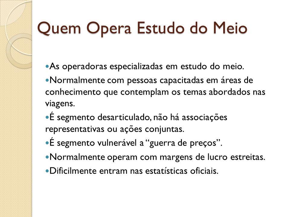 Quem Opera Estudo do Meio As operadoras especializadas em estudo do meio.