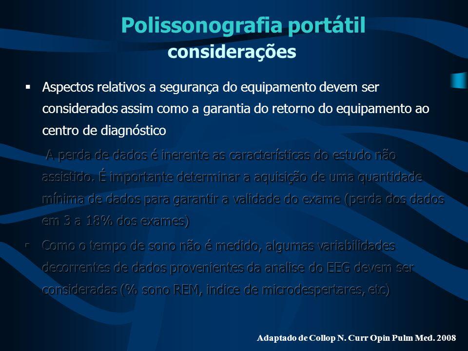 Polissonografia portátil considerações