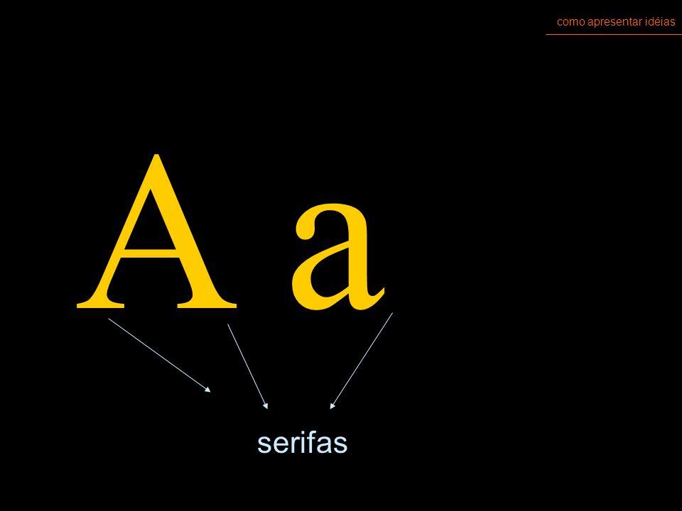 como apresentar idéias tipologia fontes: SERIFADAS x SEM SERIFA