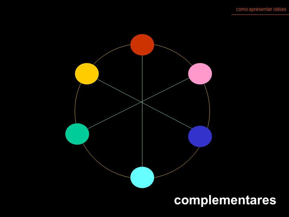 como apresentar idéias cores pigmento