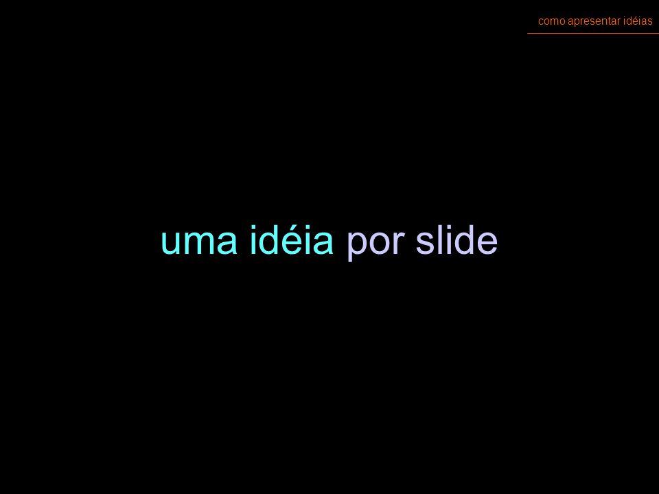 como apresentar idéias uma idéia por slide