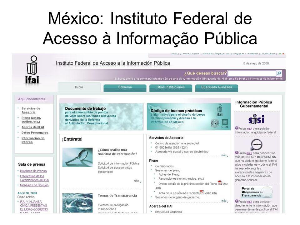 México: Instituto Federal de Acesso à Informação Pública