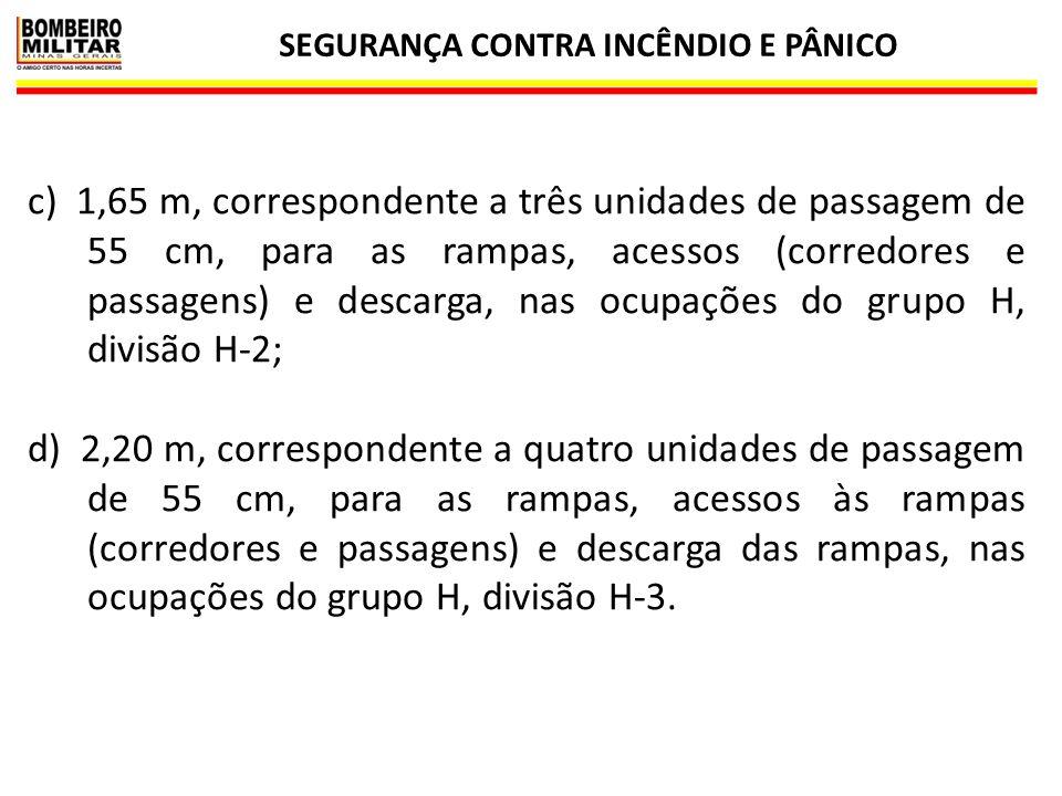 SEGURANÇA CONTRA INCÊNDIO E PÂNICO 11 EXEMPLOS DE CÁLCULO DA LARGURA DAS SAÍDAS DE EMERGÊNCIA
