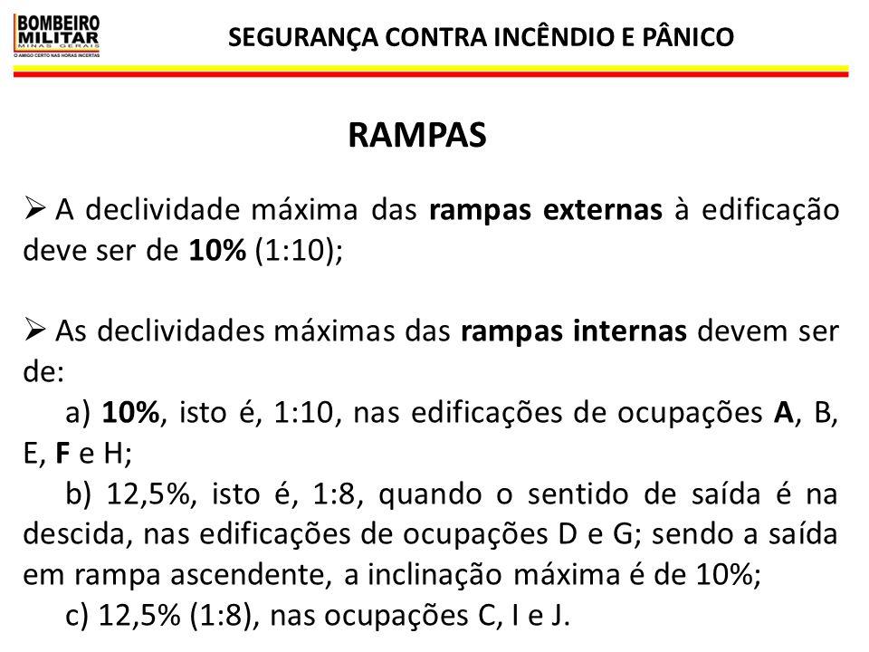 SEGURANÇA CONTRA INCÊNDIO E PÂNICO 42 ESCADAS