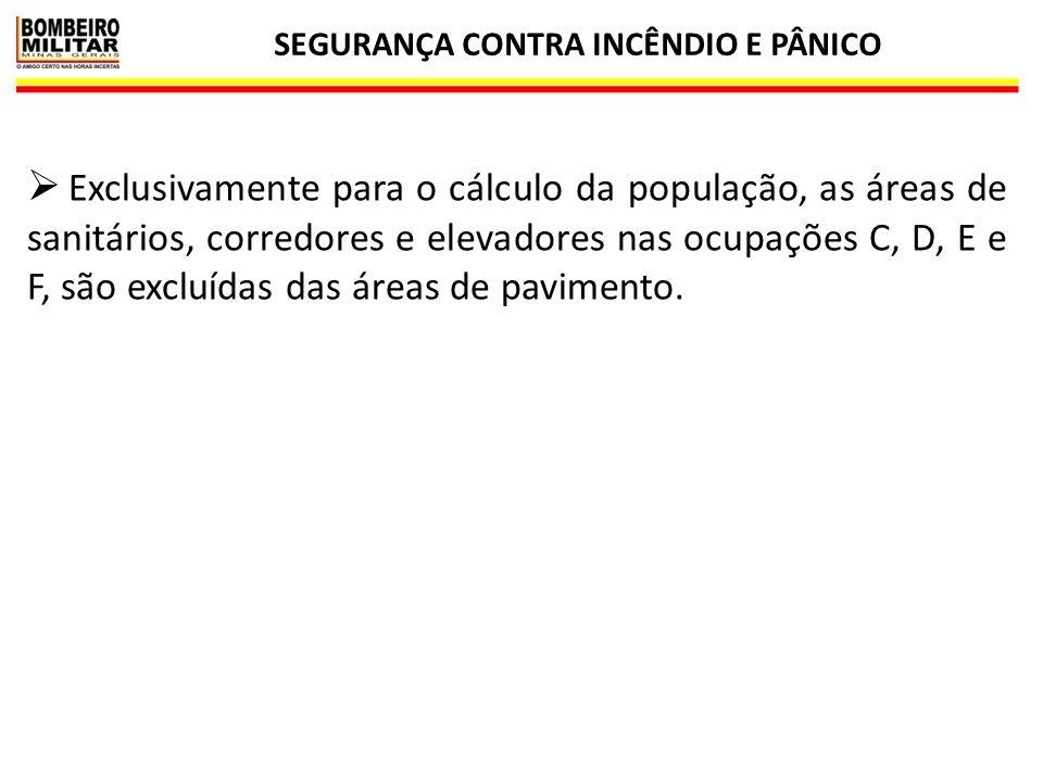 SEGURANÇA CONTRA INCÊNDIO E PÂNICO 6 DIMENSIONAMENTO DA LARGURA DAS SAÍDAS DE EMERGÊNCIA