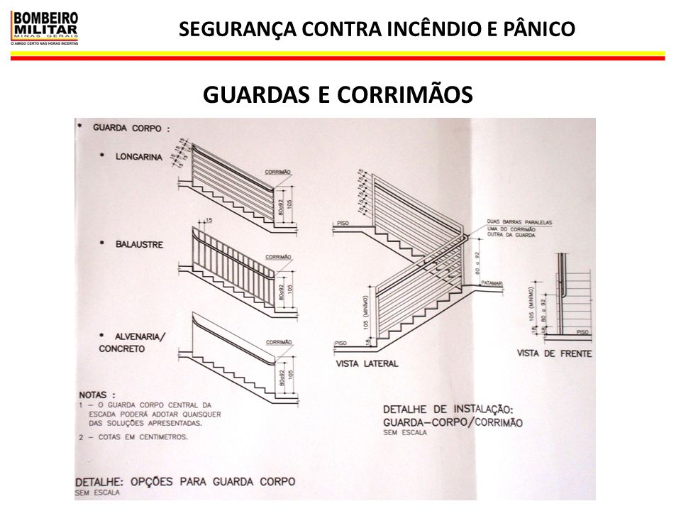 LEGISLAÇÃO DE SEGURANÇA CONTRA INCÊNDIO E PÂNICO 69 GUARDAS E CORRIMÃOS