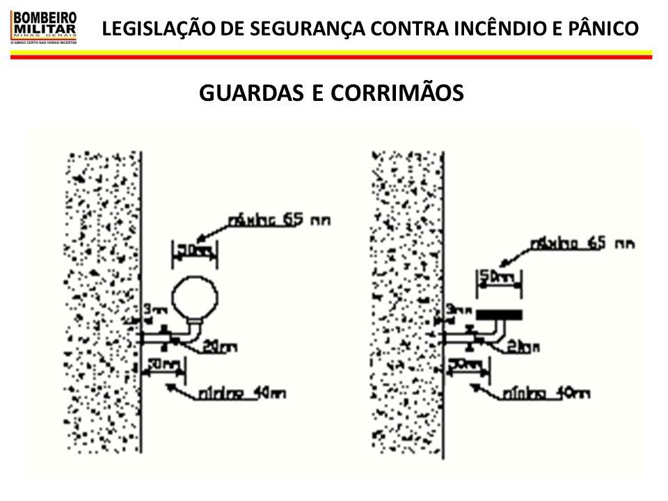 LEGISLAÇÃO DE SEGURANÇA CONTRA INCÊNDIO E PÂNICO 70 IT 08 GUARDAS E CORRIMÃOS