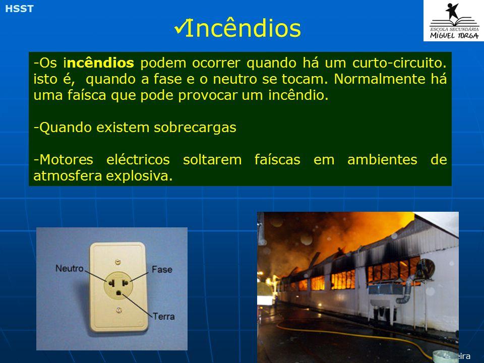 Prof Canaveira HSST -Os incêndios podem ocorrer quando há um curto-circuito.