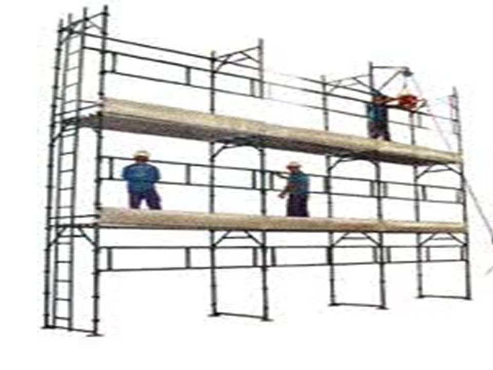 O ponto de instalação de qualquer aparelho de içar materiais deve ser escolhido, de modo a não comprometer a estabilidade e segurança do andaime.
