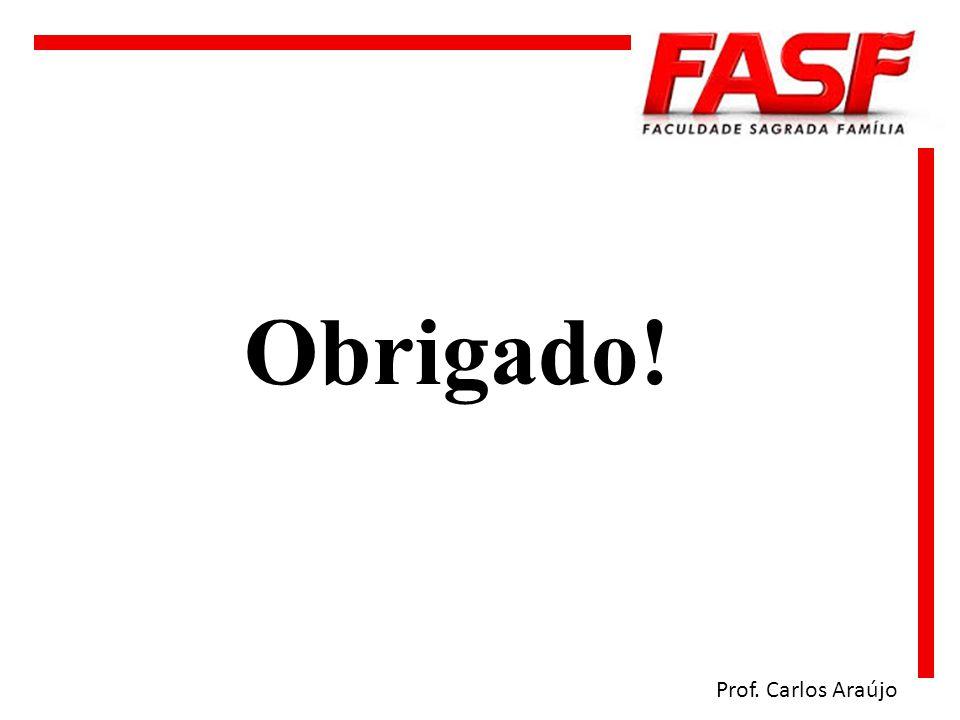 Obrigado! Prof. Carlos Araújo