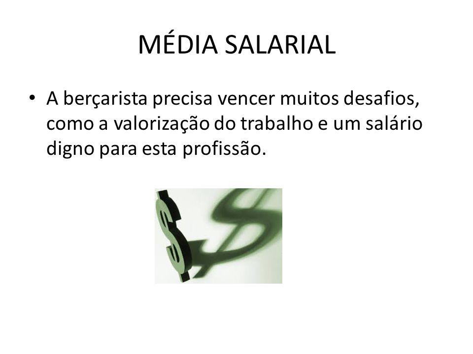 MÉDIA SALARIAL A média salarial é de um salário mínimo.