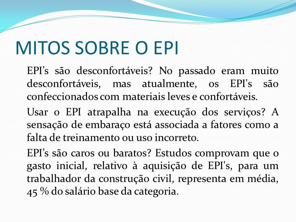 EQUIPAMENTOS DE PROTEÇÃO COLETIVA - EPC's É toda medida ou dispositivo sinal, imagem, som, instrumento ou equipamento destinado à proteção de uma ou mais pessoas.