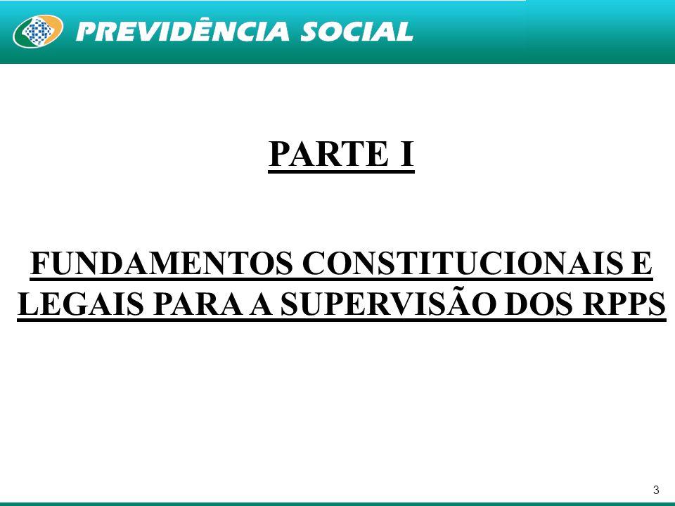 3 PARTE I FUNDAMENTOS CONSTITUCIONAIS E LEGAIS PARA A SUPERVISÃO DOS RPPS
