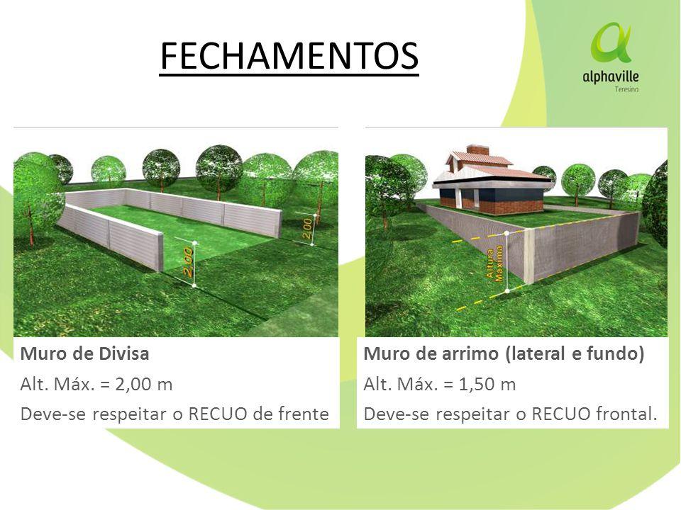 FECHAMENTOS Muro de Divisa Alt.Máx.