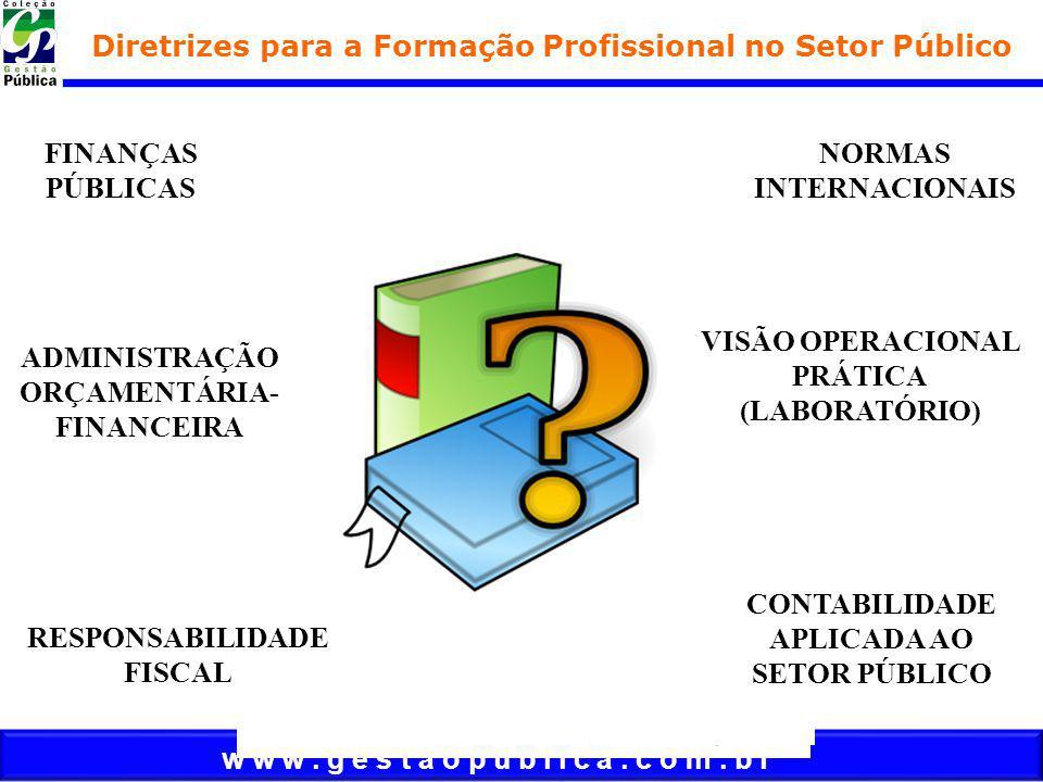 w w w. g e s t a o p u b l i c a. c o m. b r FINANÇAS PÚBLICAS Diretrizes para a Formação Profissional no Setor Público NORMAS INTERNACIONAIS ADMINIST