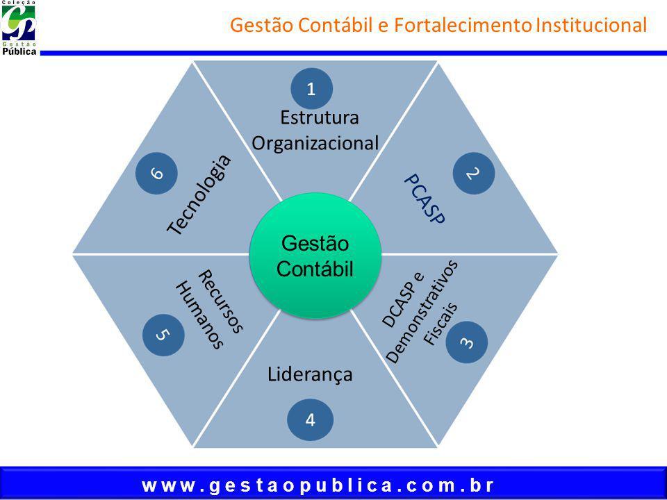 w w w. g e s t a o p u b l i c a. c o m. b r Gestão Contábil e Fortalecimento Institucional Estrutura Organizacional PCASP DCASP e Demonstrativos Fisc