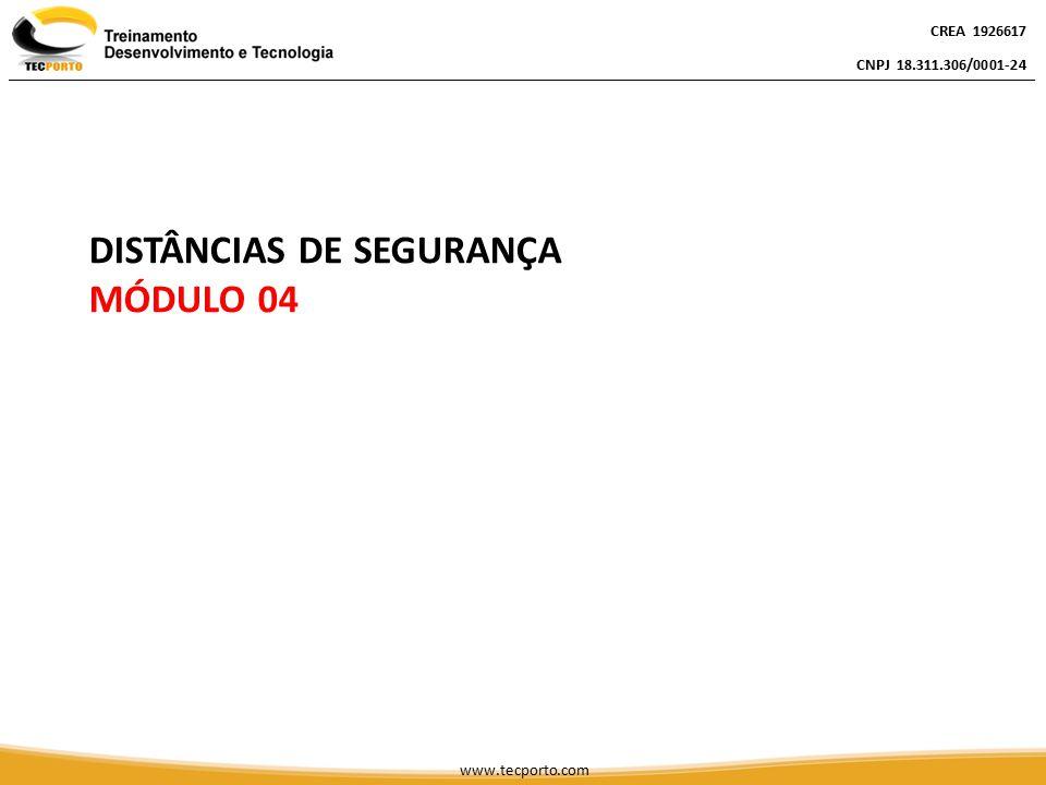 CREA 1926617 CNPJ 18.311.306/0001-24 CREA 1926617 CNPJ 18.311.306/0001-24 www.tecporto.com DISTÂNCIAS DE SEGURANÇA MÓDULO 04