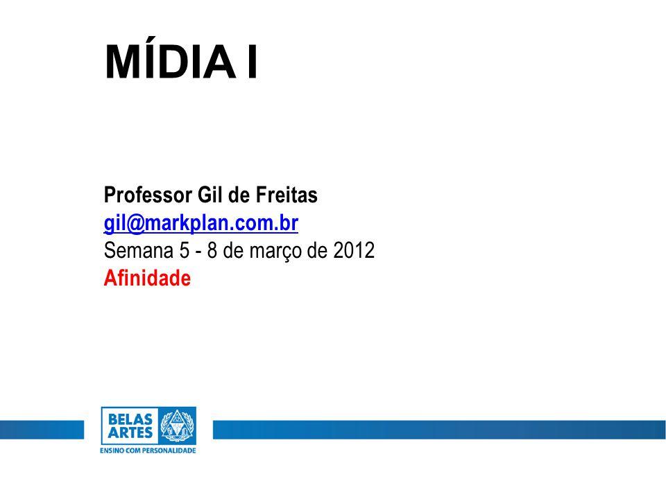 MÍDIA I Professor Gil de Freitas gil@markplan.com.br Semana 5 - 8 de março de 2012 Afinidade