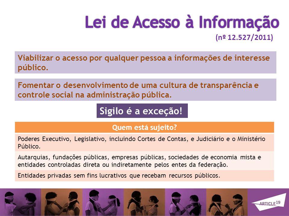 Viabilizar o acesso por qualquer pessoa a informações de interesse público.