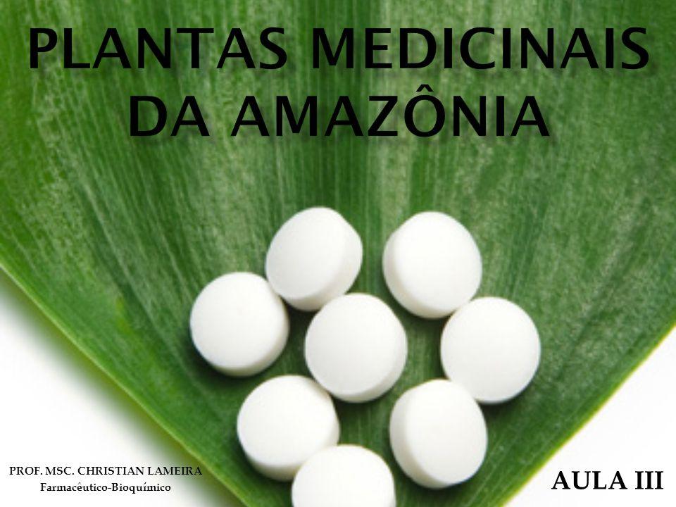 PROF. MSC. CHRISTIAN LAMEIRA Farmacêutico-Bioquímico AULA III