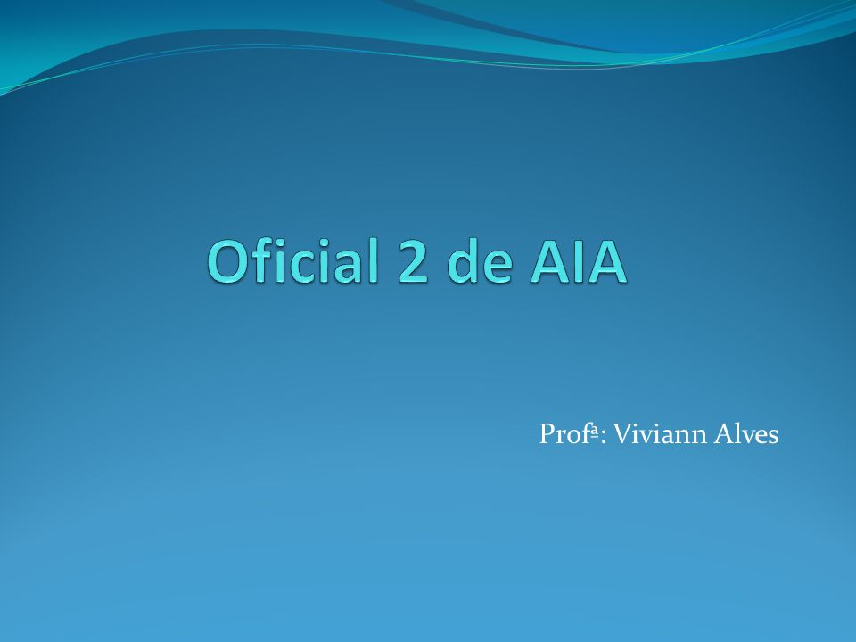 Profª: Viviann Alves