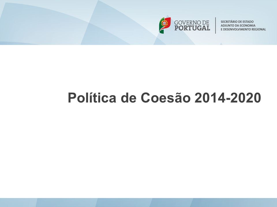 Política de Coesão 2014-2020