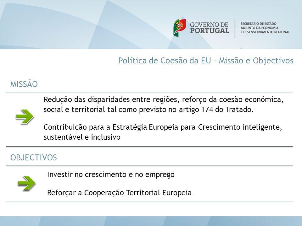 Redução das disparidades entre regiões, reforço da coesão económica, social e territorial tal como previsto no artigo 174 do Tratado. Contribuição par