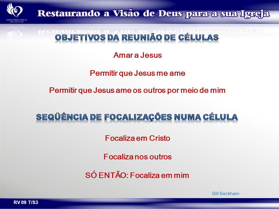 RV 09 T/S3 Amar a Jesus Permitir que Jesus me ame Permitir que Jesus ame os outros por meio de mim Focaliza em Cristo Focaliza nos outros SÓ ENTÃO: Fo