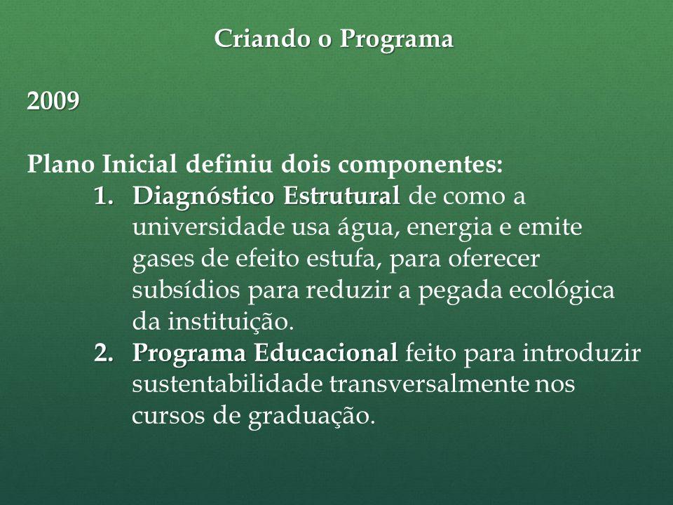 Criando o Programa 2009 Plano Inicial definiu dois componentes: 1.
