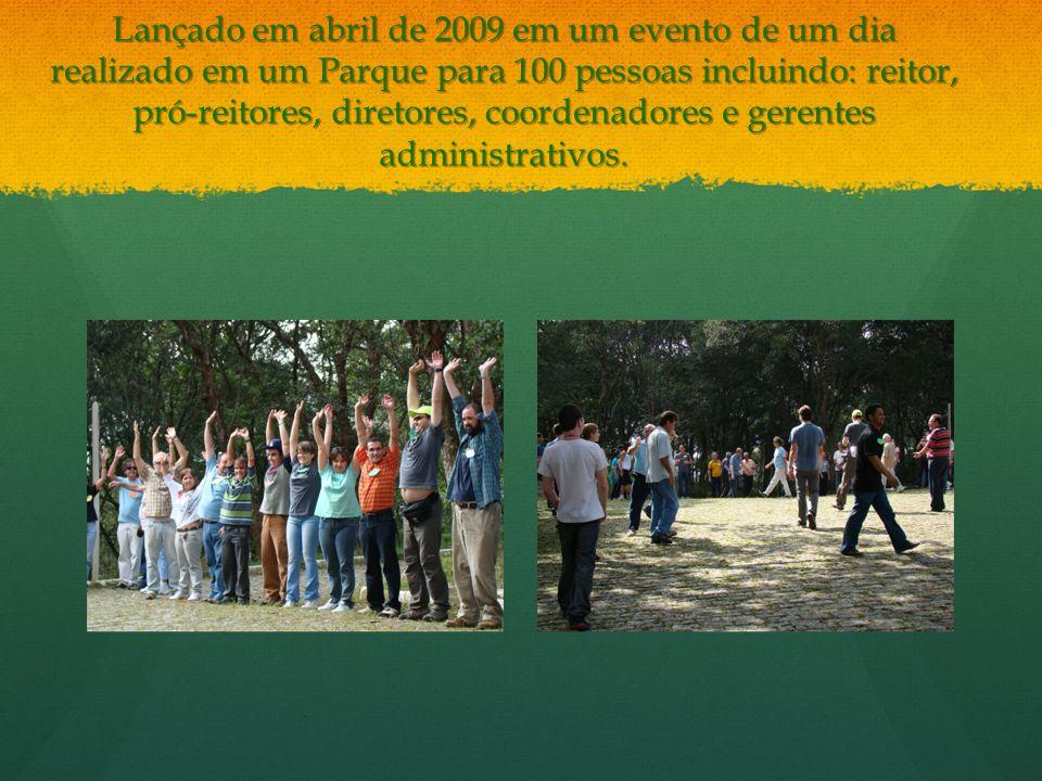 Lançado em abril de 2009 em um evento de um dia realizado em um Parque para 100 pessoas incluindo: reitor, pró-reitores, diretores, coordenadores e gerentes administrativos.