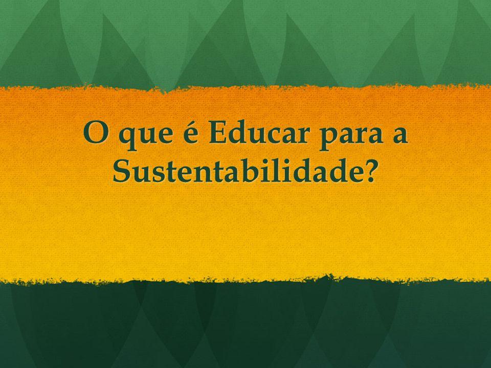 O que é Educar para a Sustentabilidade