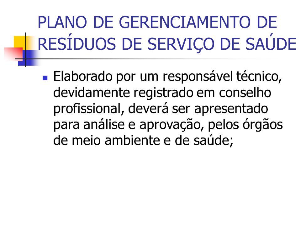Elaborado por um responsável técnico, devidamente registrado em conselho profissional, deverá ser apresentado para análise e aprovação, pelos órgãos d