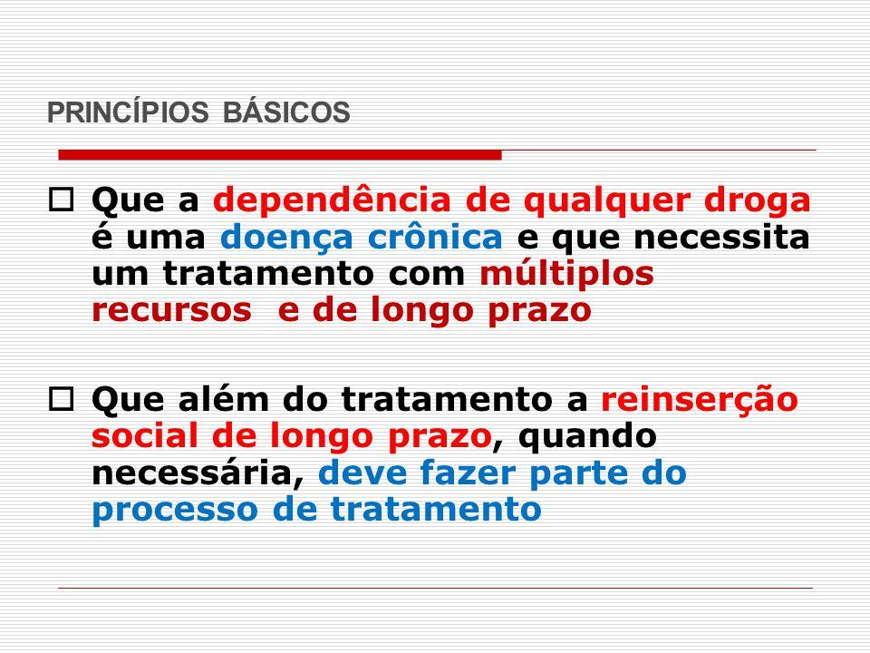 O EXEMPLO DA SUÉCIA – RESTRIÇÃO ÀS DROGAS COM0 CUIDADO SOCIAL  O sistema de tratamento  O tratamento é um dos 3 pilares do sistema  Um conceito importante é o de corrente de cuidado