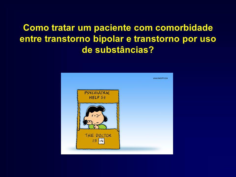 Como tratar um paciente com comorbidade entre transtorno bipolar e transtorno por uso de substâncias?