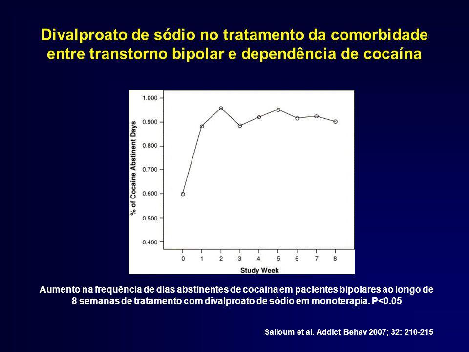 Divalproato de sódio no tratamento da comorbidade entre transtorno bipolar e dependência de cocaína Salloum et al.