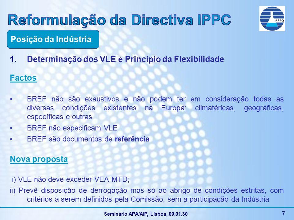 Seminário APA/AIP, Lisboa, 09.01.30 18 6.