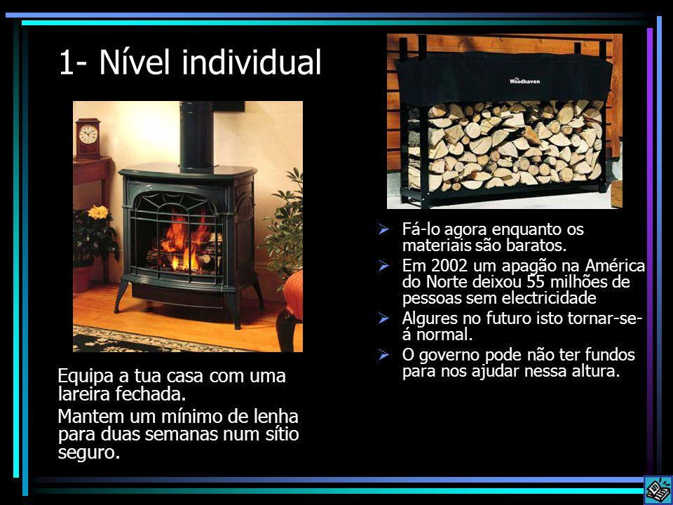 1- Nível individual Equipa a tua casa com uma lareira fechada.