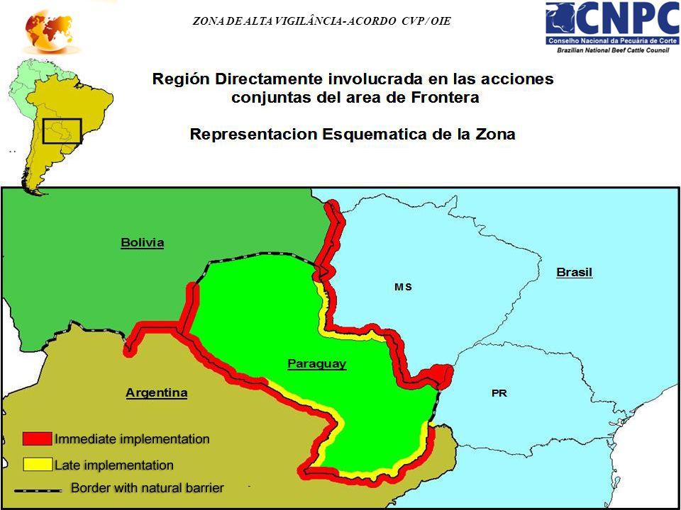 ZONA DE ALTA VIGILÂNCIA- ACORDO CVP / OIE