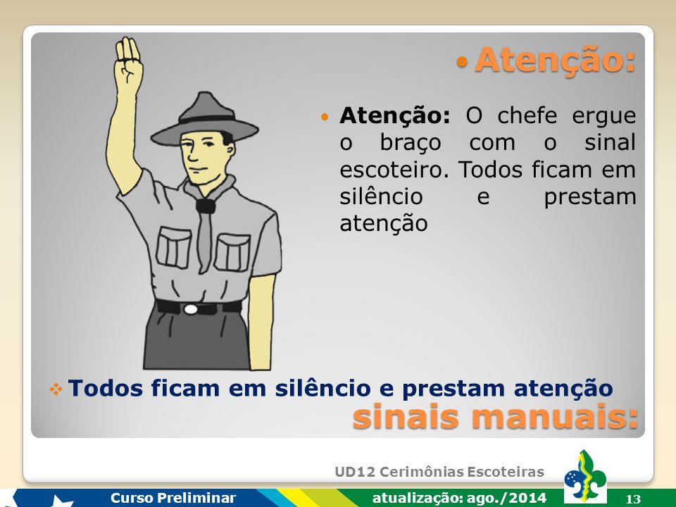UD12 Cerimônias Escoteiras Curso Preliminar atualização: ago./2014 12  Falta de segurança. Toda e qualquer cerimônia deve ser pensada de maneira que