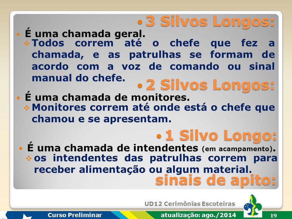 UD12 Cerimônias Escoteiras Curso Preliminar atualização: ago./2014 18 Formar em Círculo: Formar em Círculo: sinais manuais:  a Tropa forma desta form