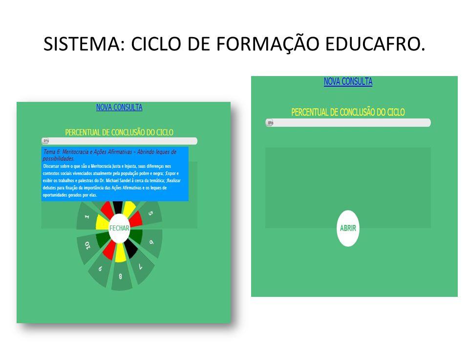 SISTEMA: CICLO DE FORMAÇÃO EDUCAFRO.