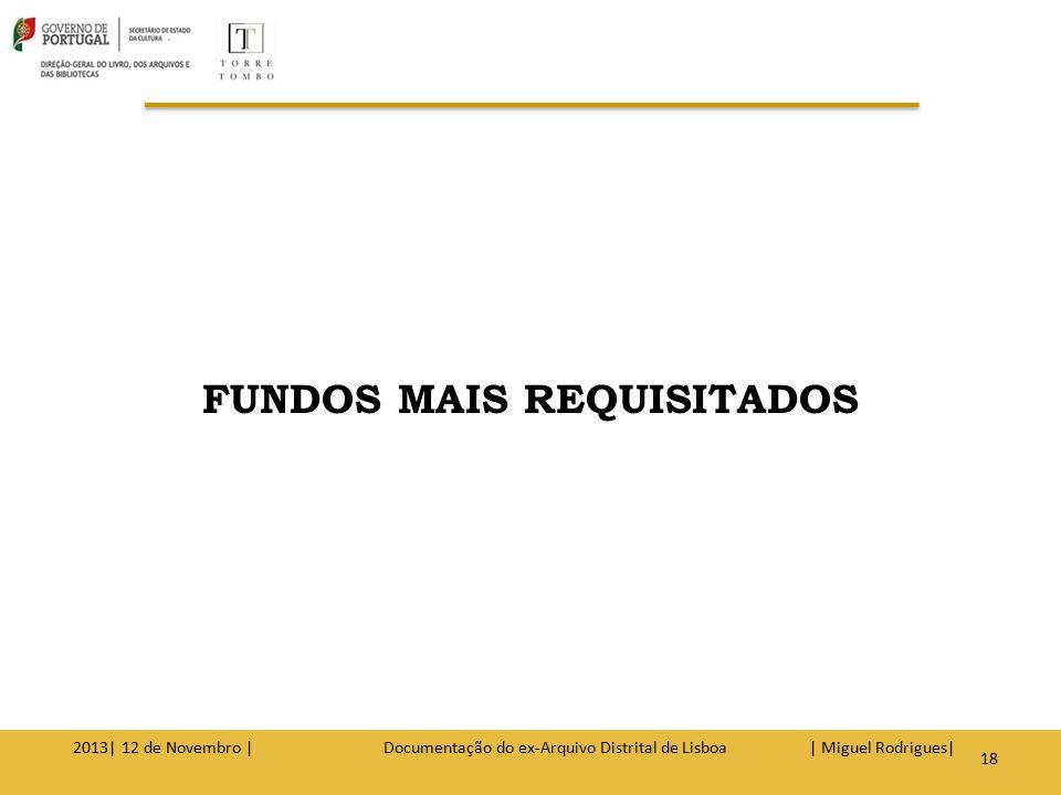 REGISTOS PAROQUIAIS REGISTOS NOTARIAIS JUDICIAIS 2013| 12 de Novembro | Documentação do ex-Arquivo Distrital de Lisboa | Miguel Rodrigues| 19