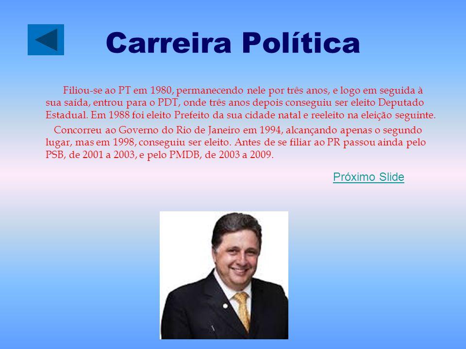 Carreira Política Filiou-se ao PT em 1980, permanecendo nele por três anos, e logo em seguida à sua saída, entrou para o PDT, onde três anos depois co